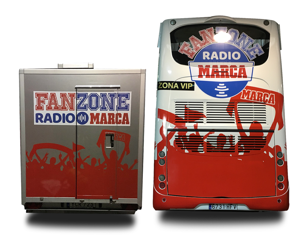INtercity con Marca fan Zone